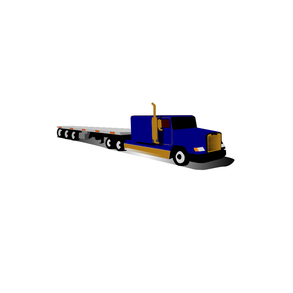 Container Truck SVG Clip arts
