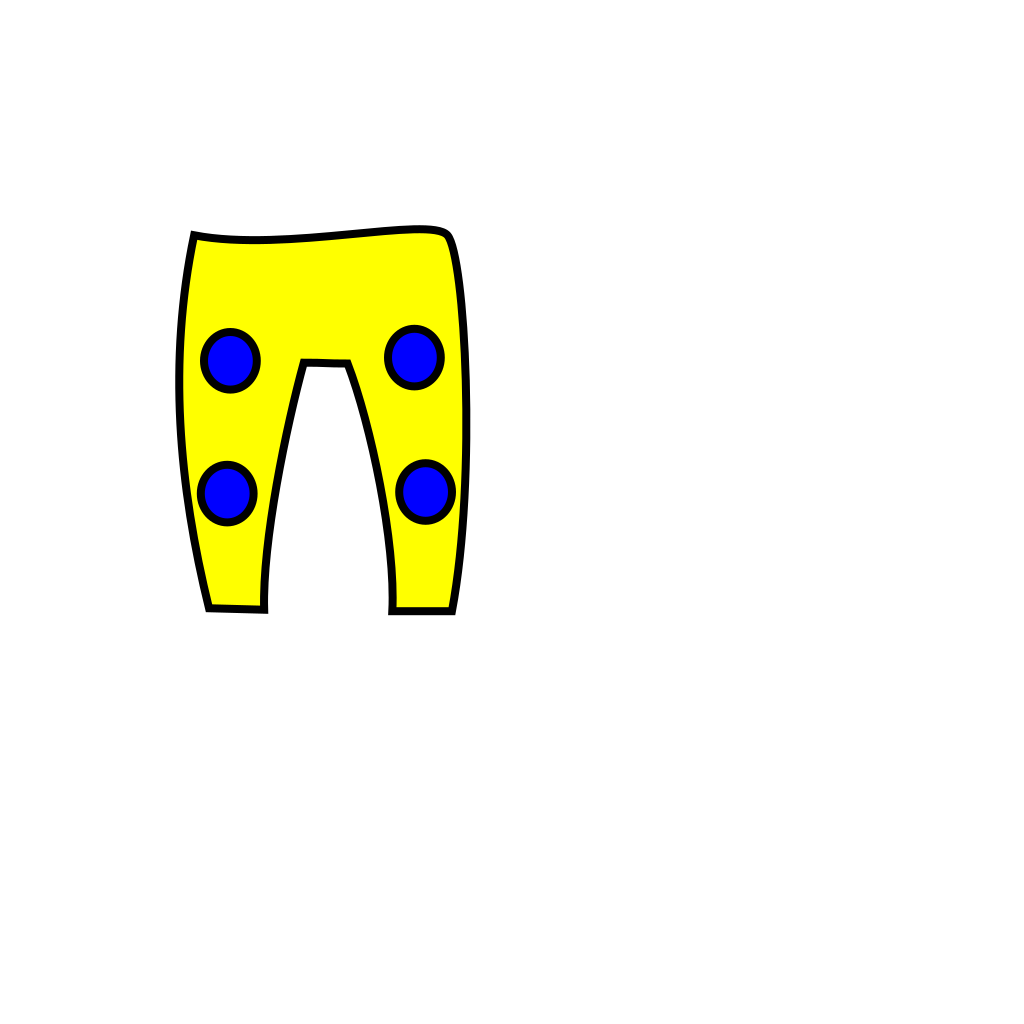 Yellow Blue Trousers SVG Clip arts
