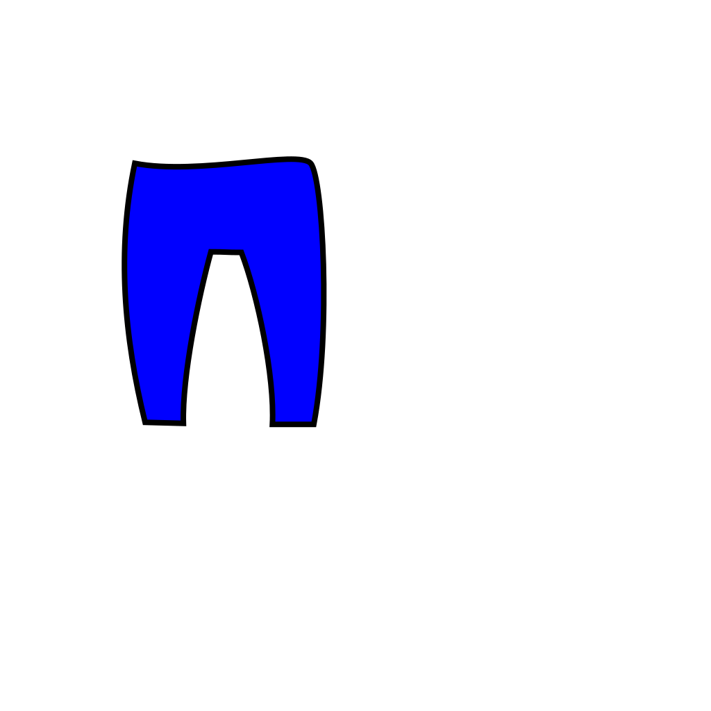 Blue Trousers SVG Clip arts