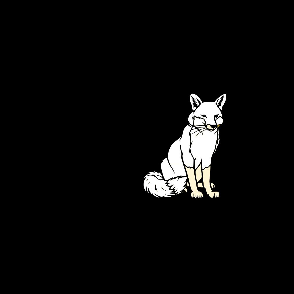 Black And White Fox SVG Clip arts
