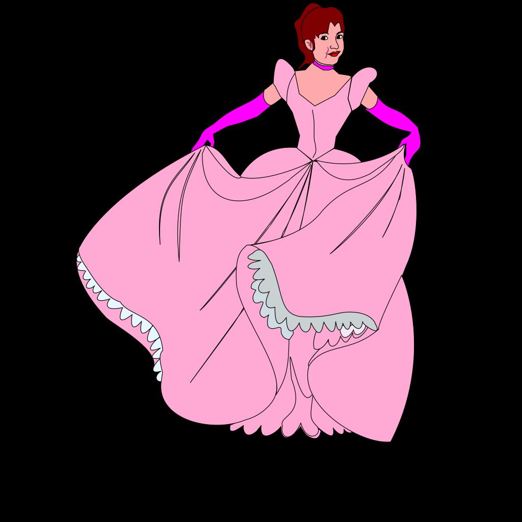 White Princess Silhouette In Black Background SVG Clip arts
