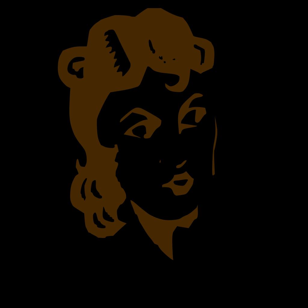 Ladys Face SVG Clip arts