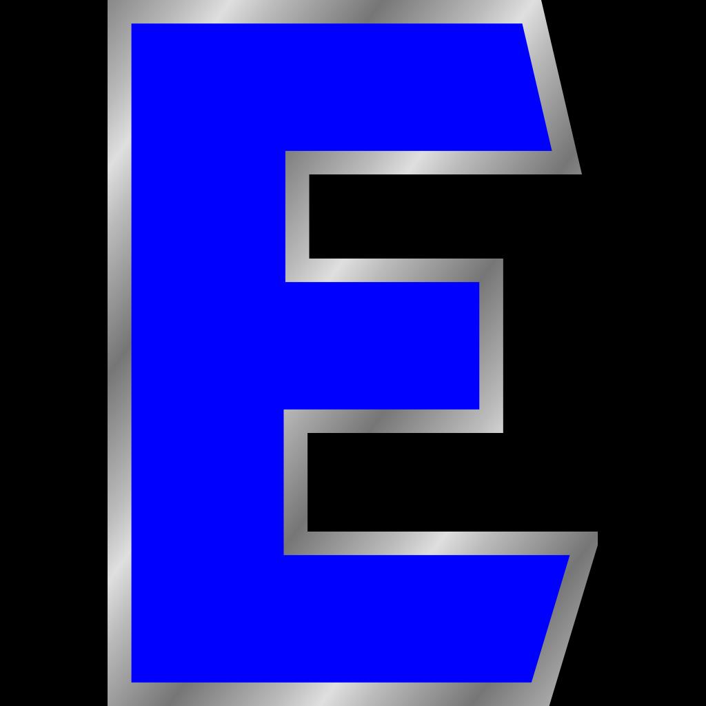 Monogram Letter E SVG Clip arts