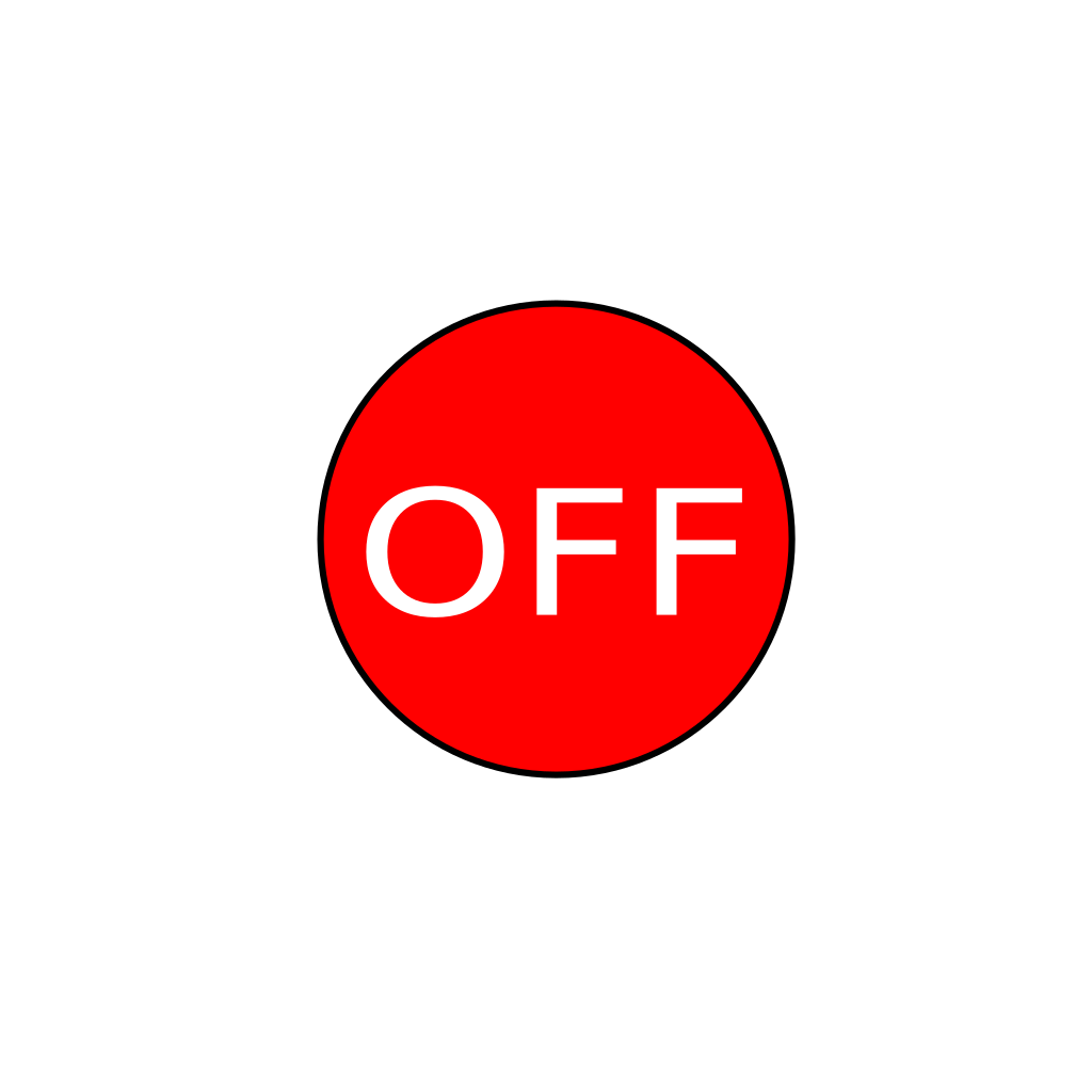 Off Button SVG Clip arts