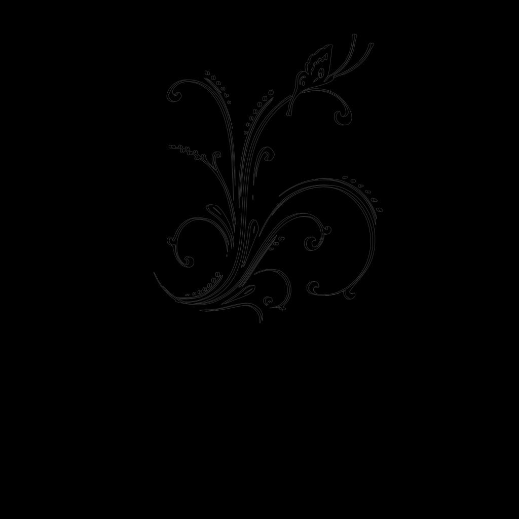 M Black Scroll SVG Clip arts