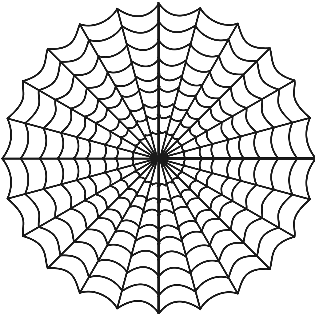Spider Web Hypnotic SVG Clip arts