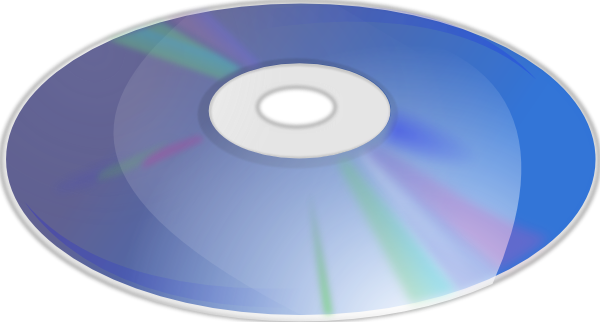 Blue Ray Disk SVG Clip arts