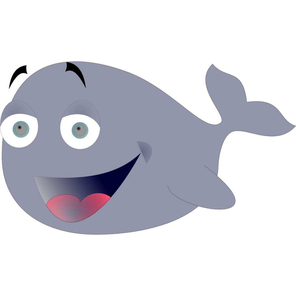Sicabol Funny Whale SVG Clip arts