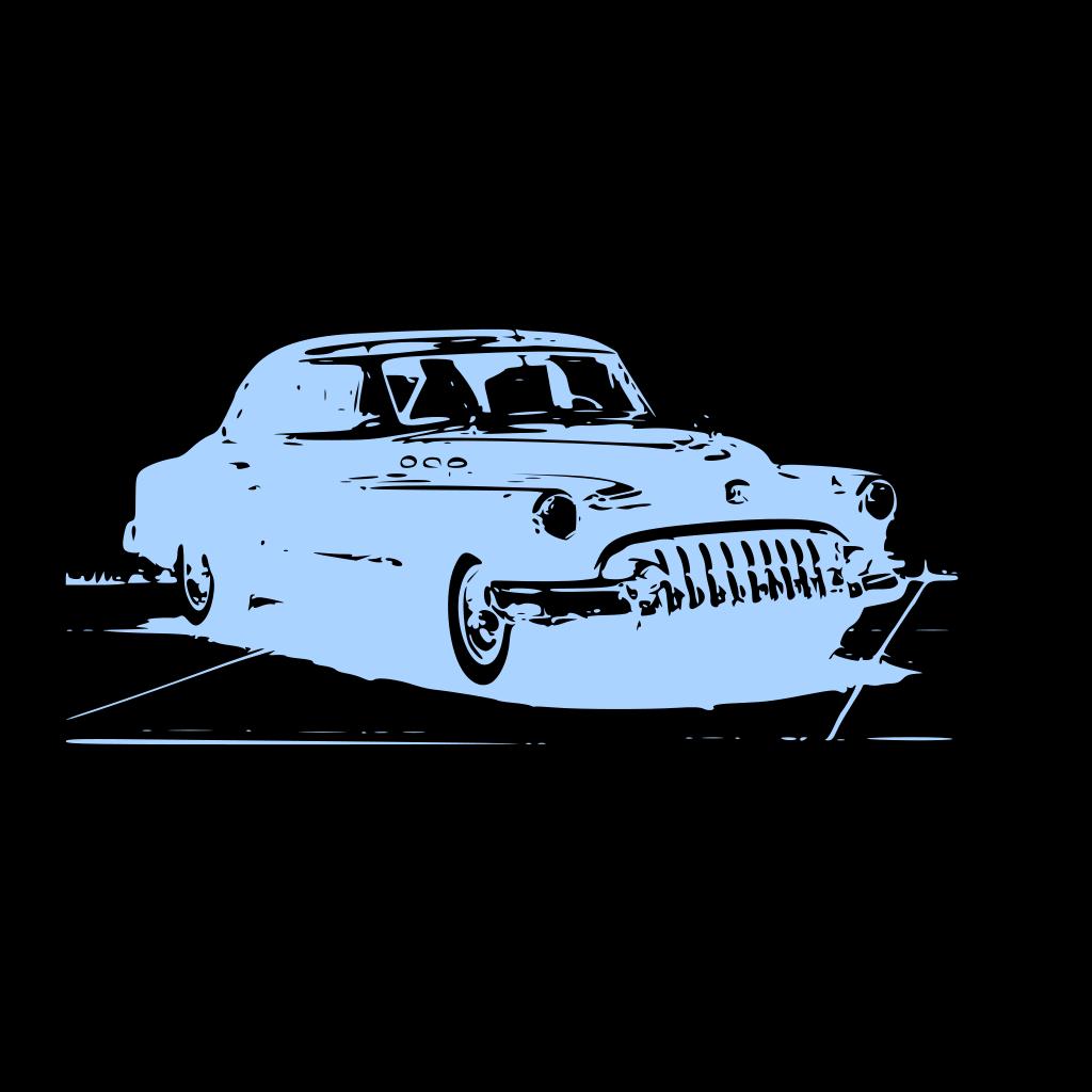 Blue Vintage Car SVG Clip arts