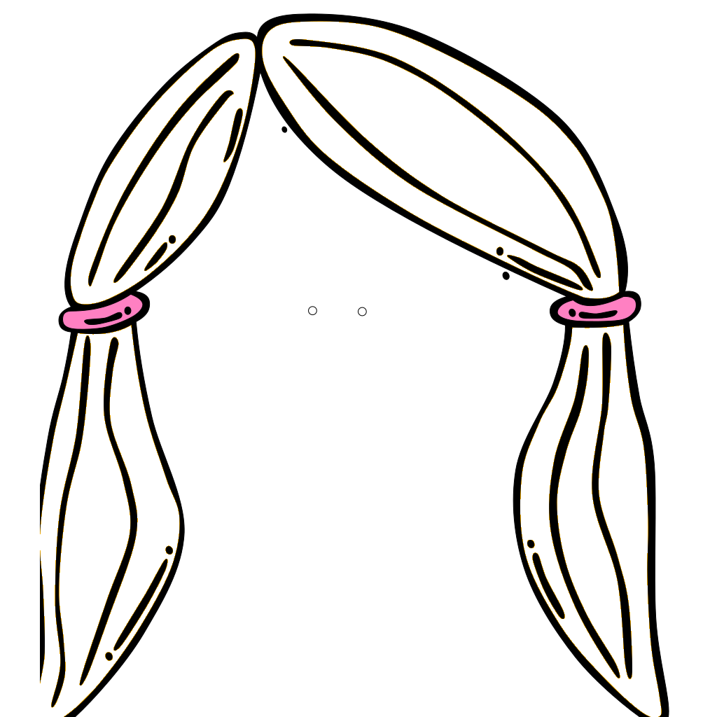 Science Girl With Black Hair SVG Clip arts