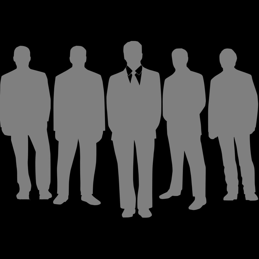 Black Men Grey SVG Clip arts