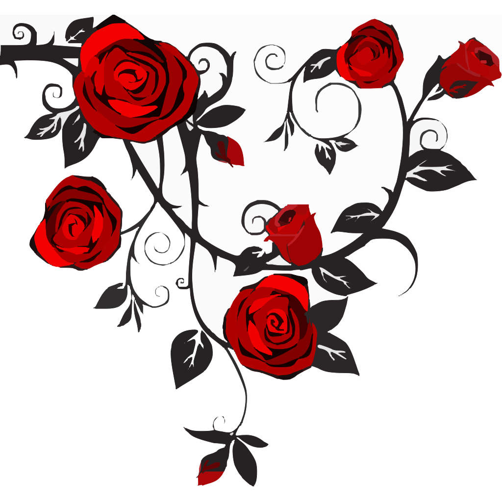 Rose 7 SVG Clip arts