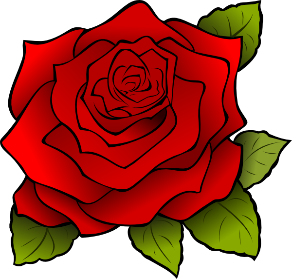 Rose 4 SVG Clip arts