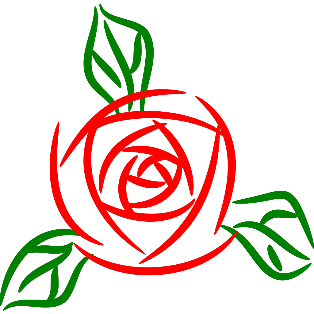 Rose 3 SVG Clip arts