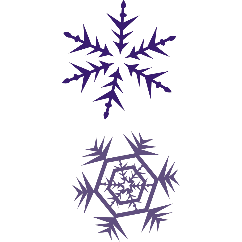 Erik Single Snowflake SVG Clip arts