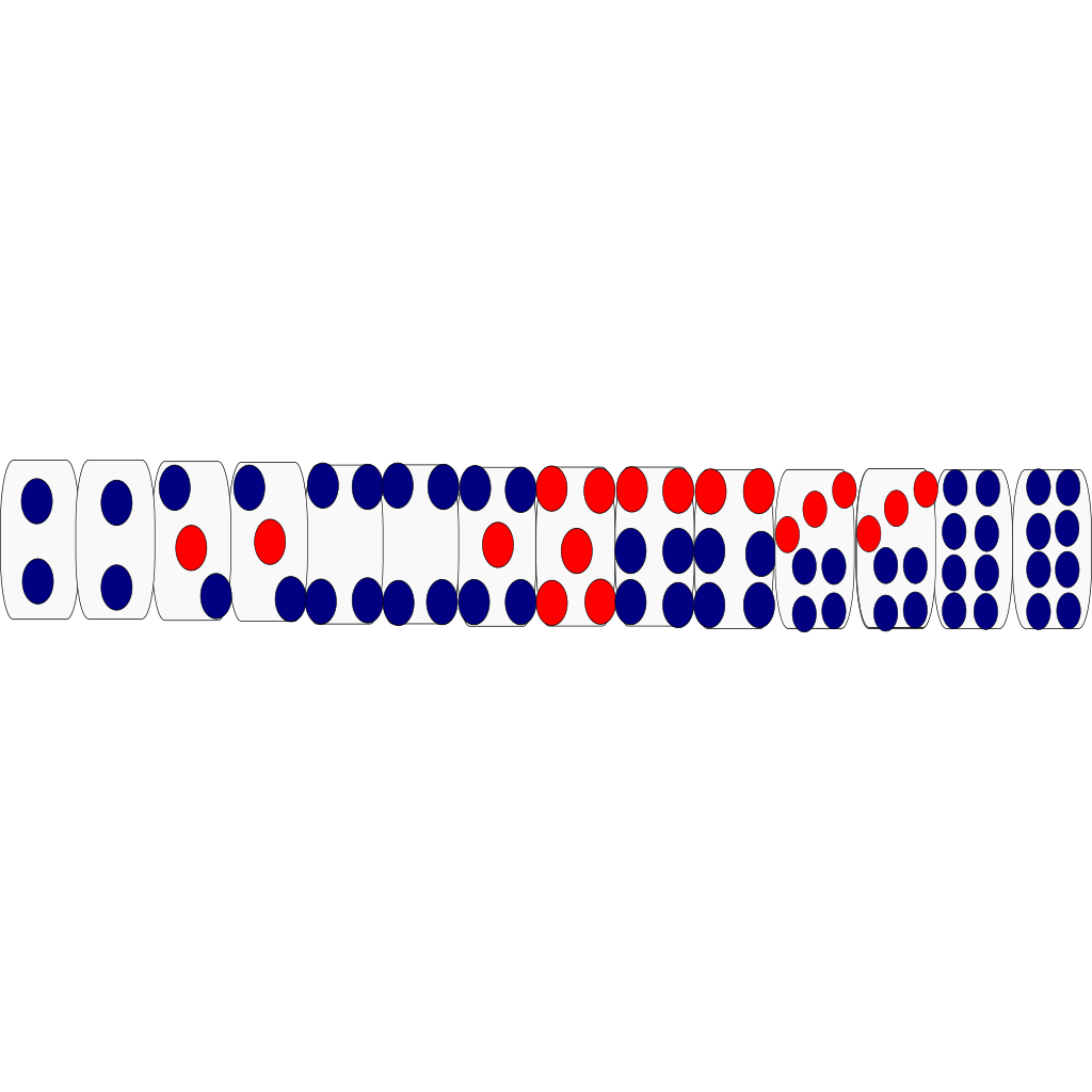 Dominoes Game SVG Clip arts