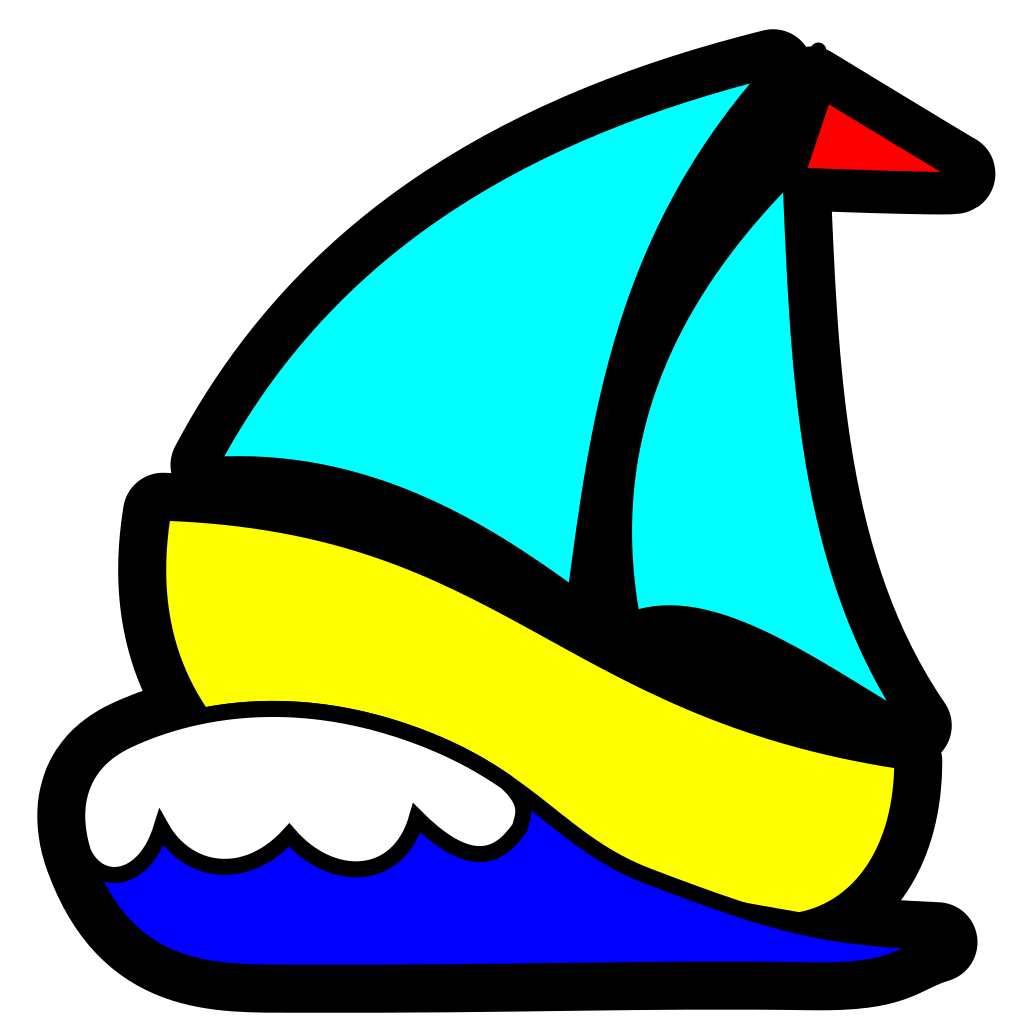 Sailboat SVG Clip arts
