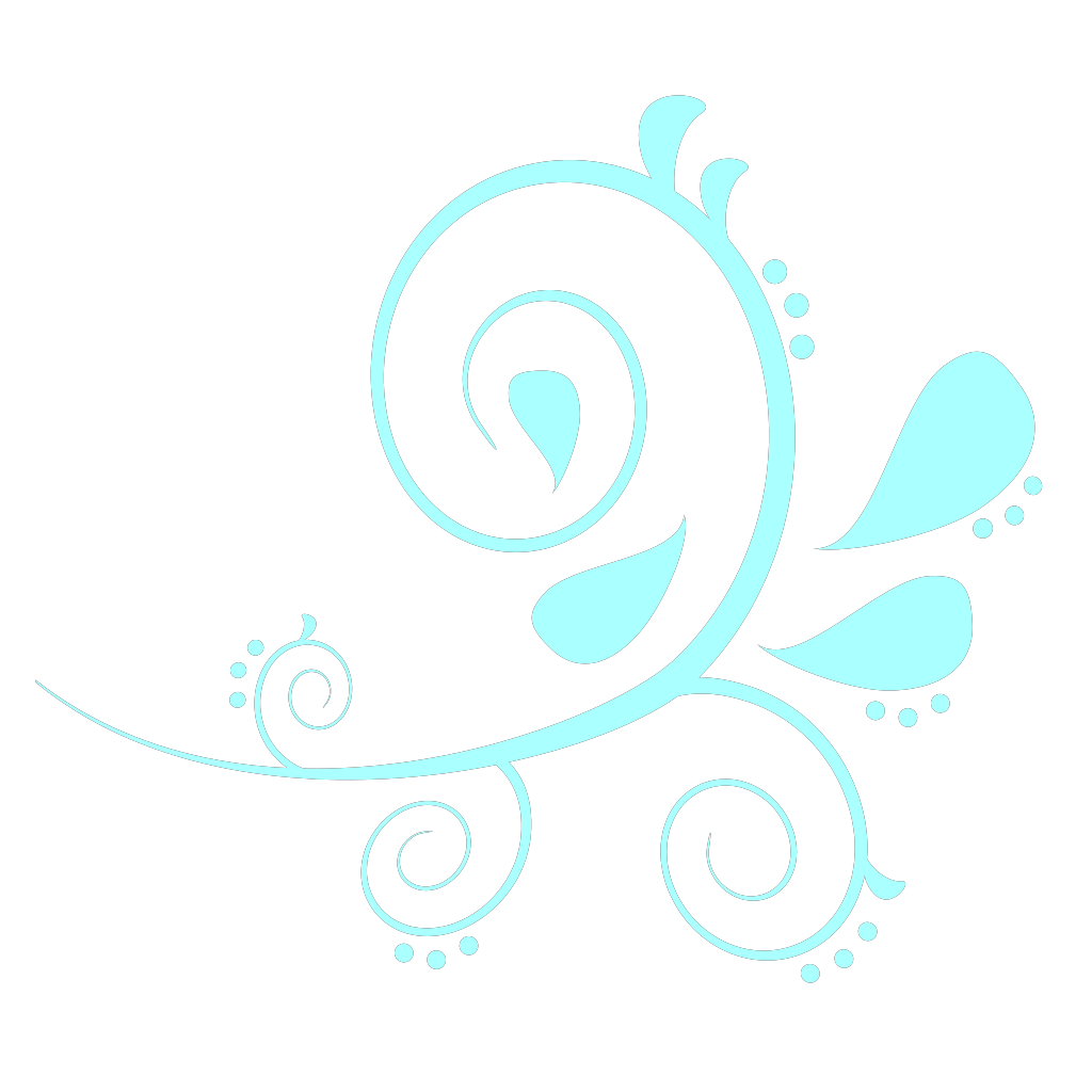Paisley Curves Blue SVG Clip arts