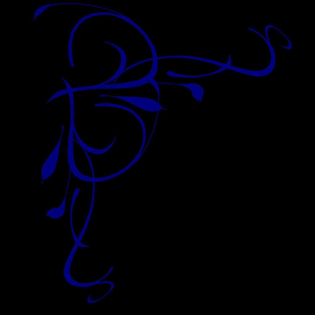 Left Floral Swirl svg