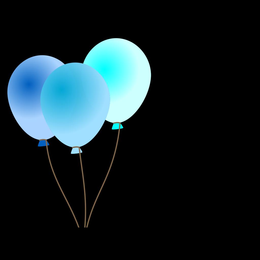 Emmas Blue Balloons svg