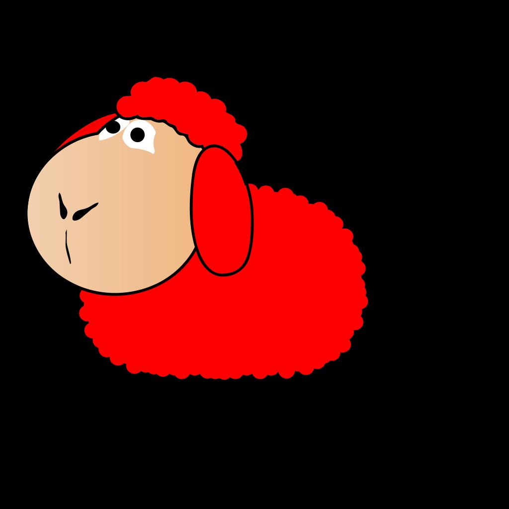 Red Sheep SVG Clip arts
