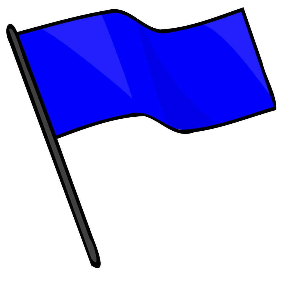 Blue Flag SVG Clip arts