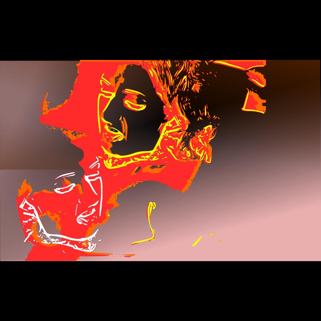 Psychotic Portrait SVG Clip arts
