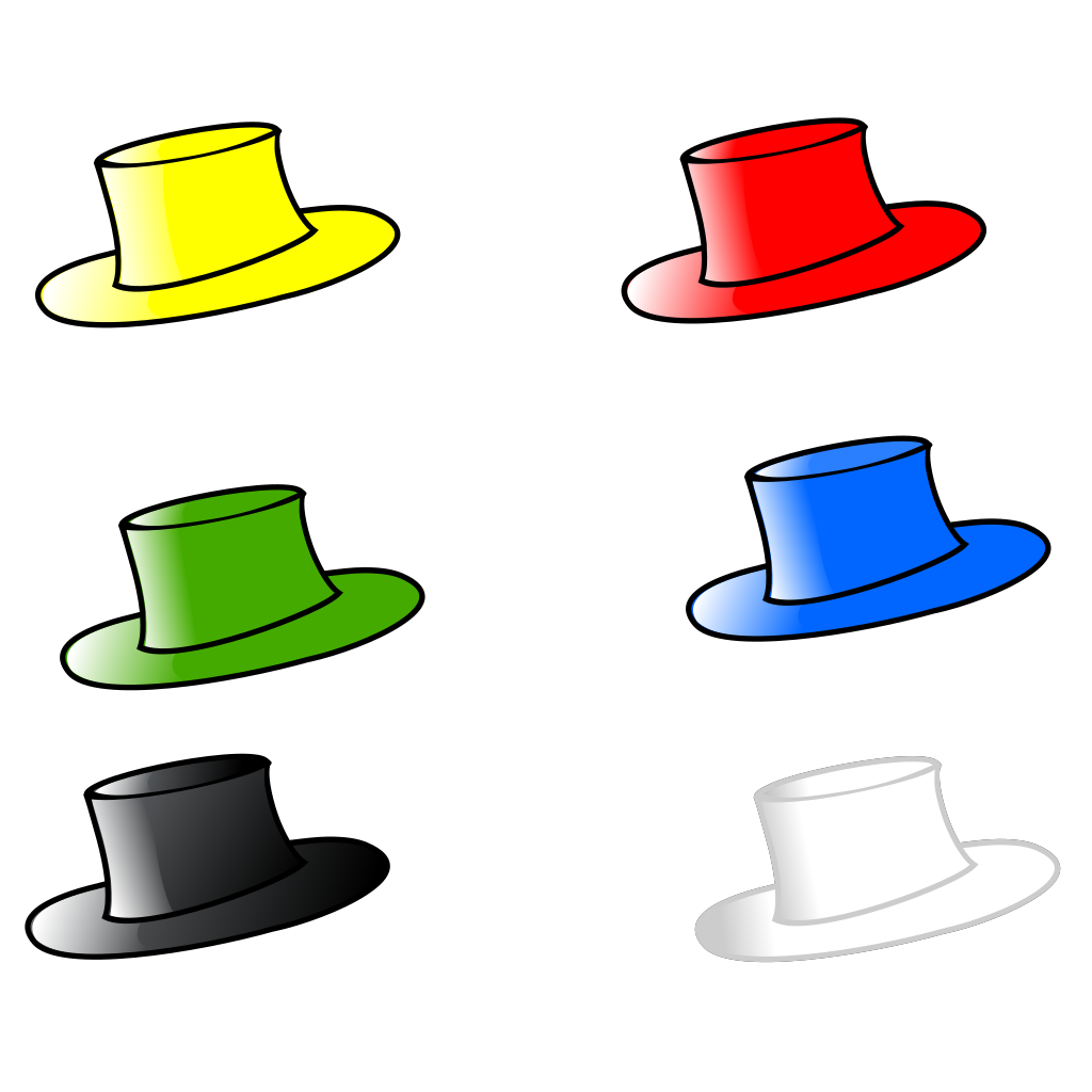 Clothing Six Hats SVG Downloads - Blue - Download vector clip art ...
