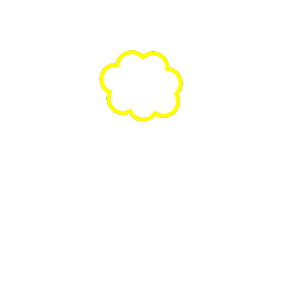 Yellow Cloud SVG Clip arts