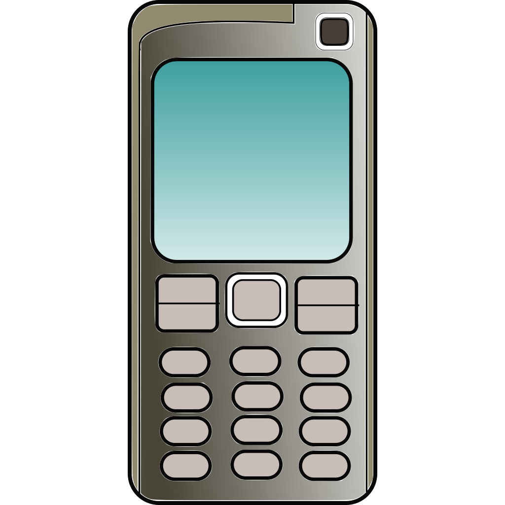 Cell Phone SVG Clip arts