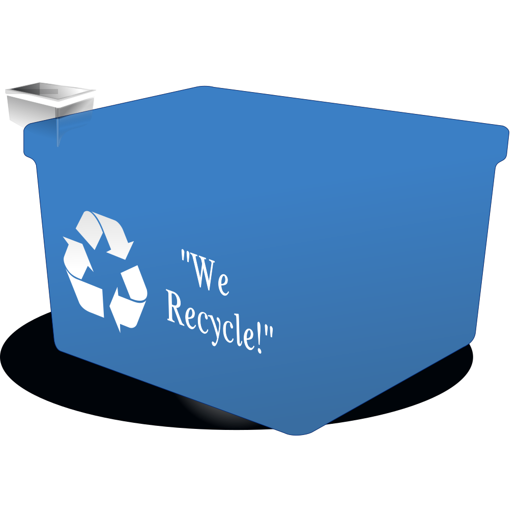Recycle Bin Black White SVG Clip arts