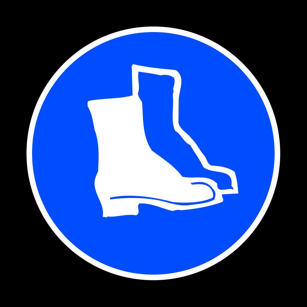 Mandatory Feet Protection Hard Boots SVG Clip arts