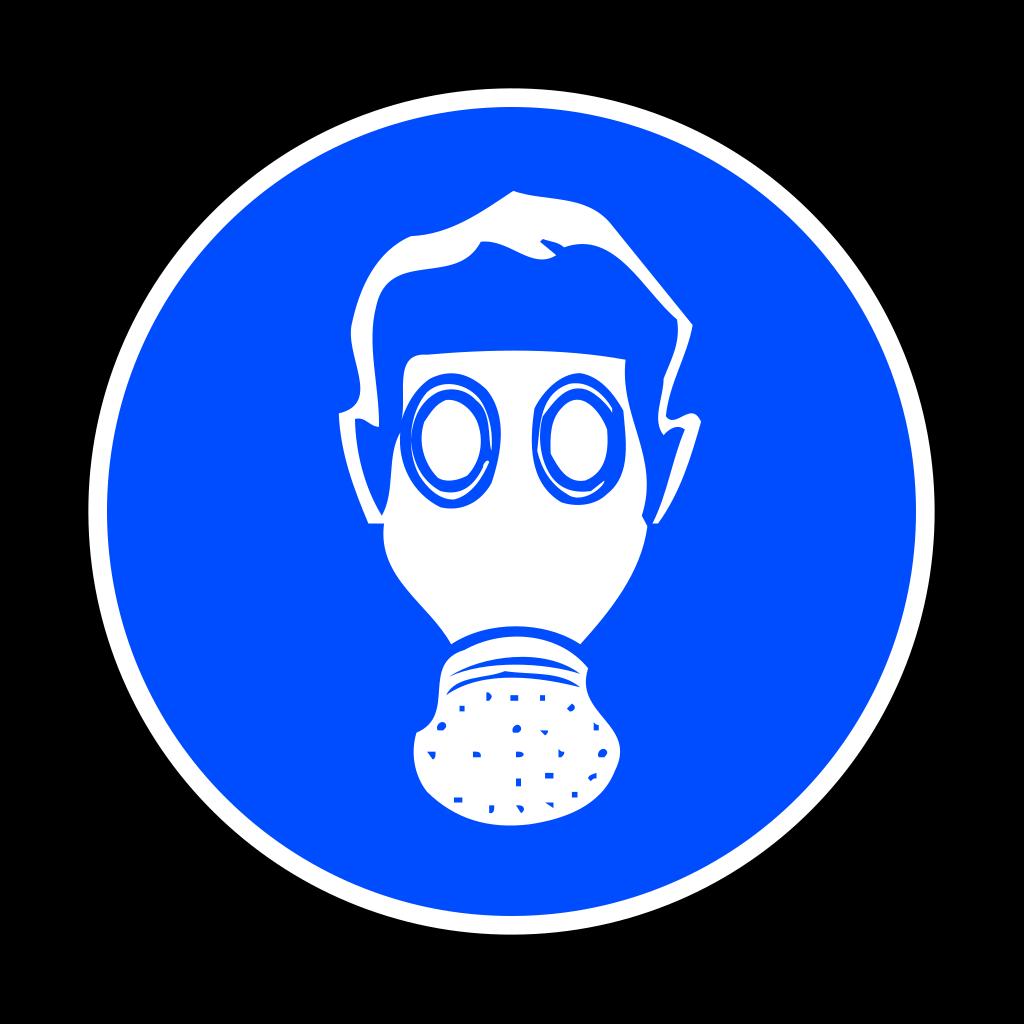 Mandatory Respiration Protection SVG Clip arts