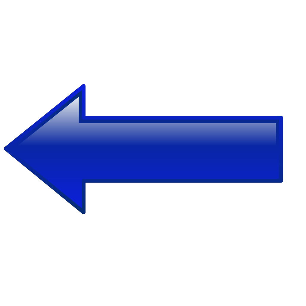 Arrow-left-blue SVG Clip arts