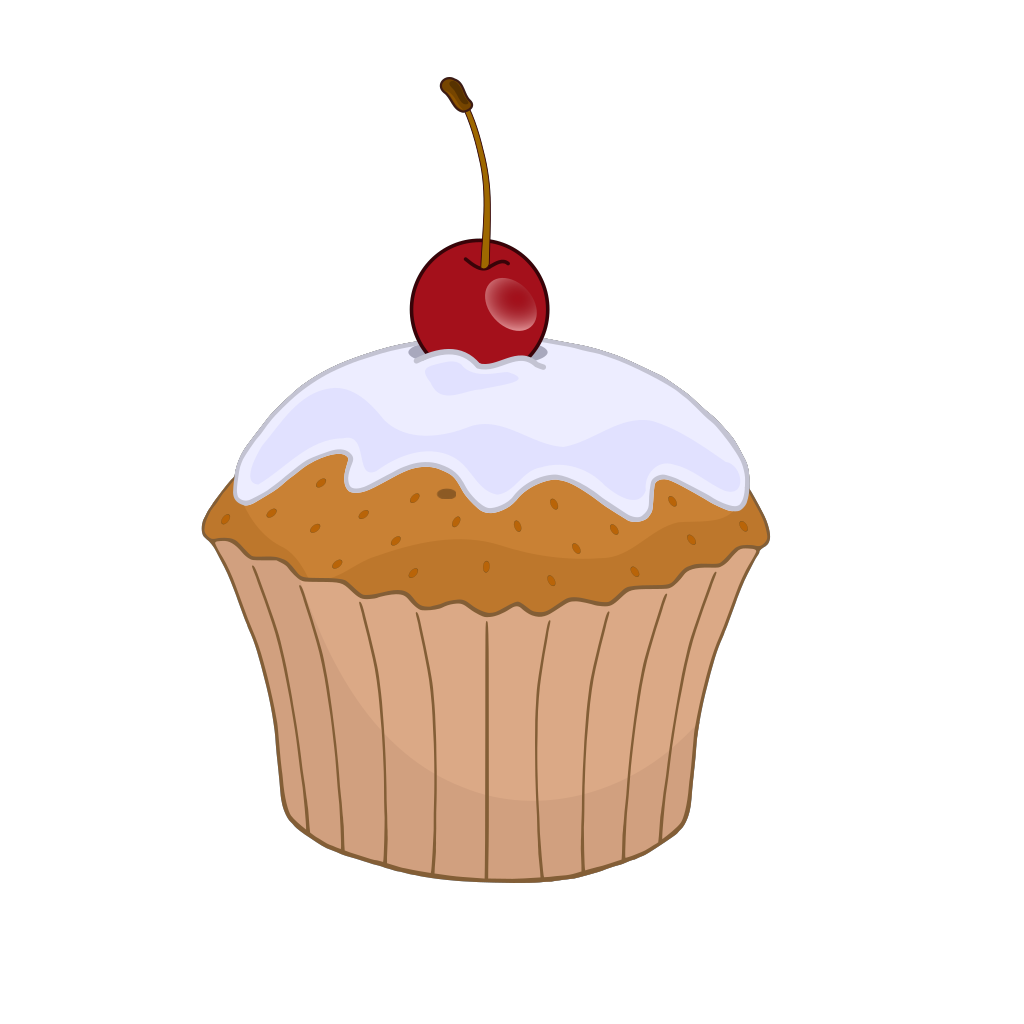 Blueberry Muffin SVG Clip arts