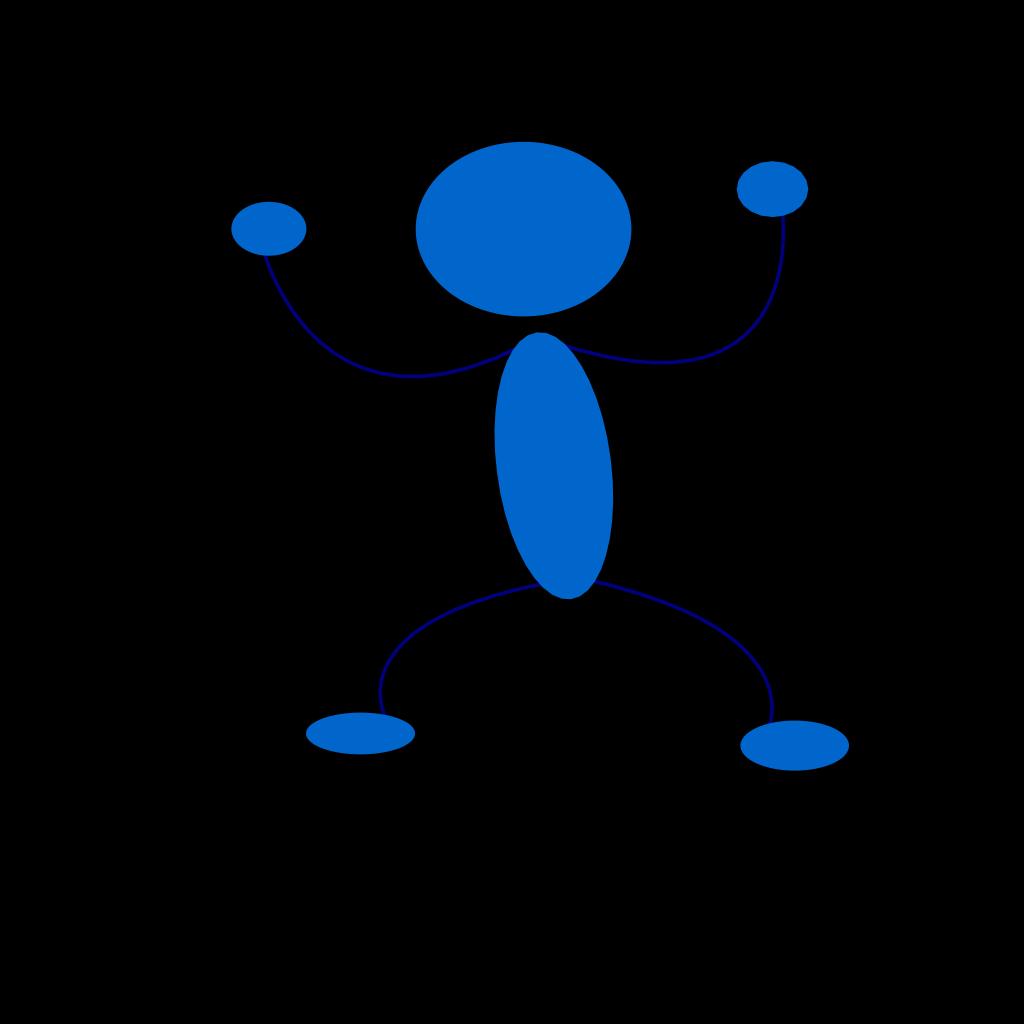 Blue Man Preparing To Punch SVG Clip arts