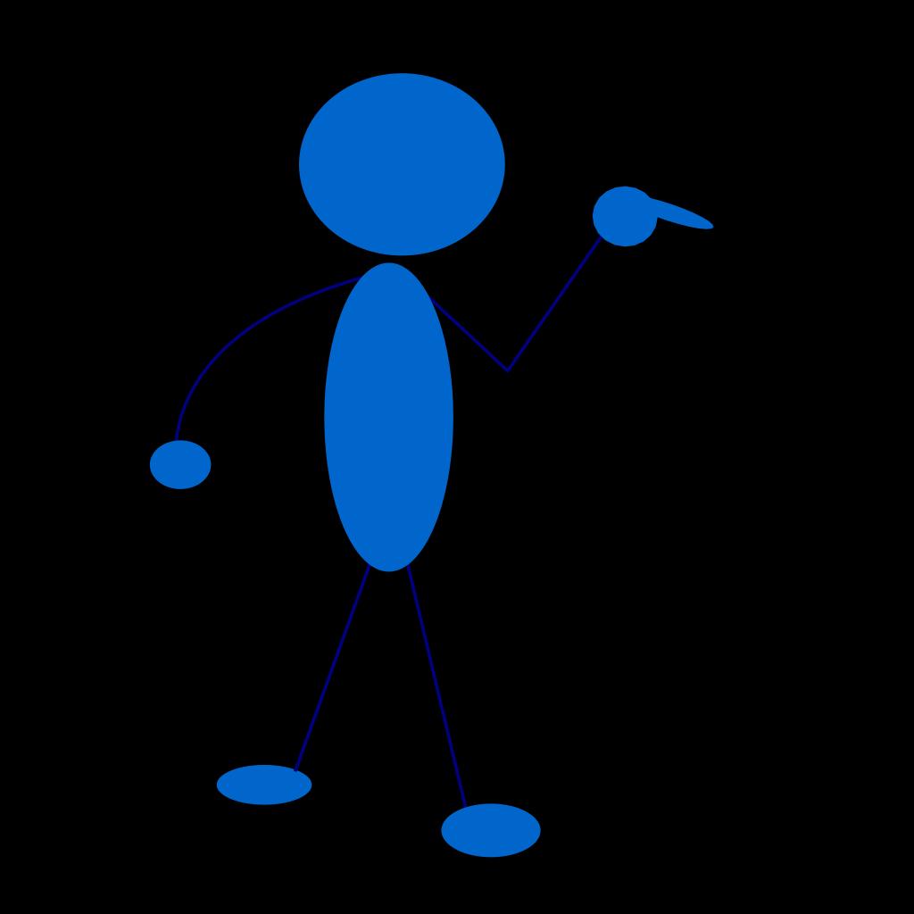 Blue Man SVG Clip arts