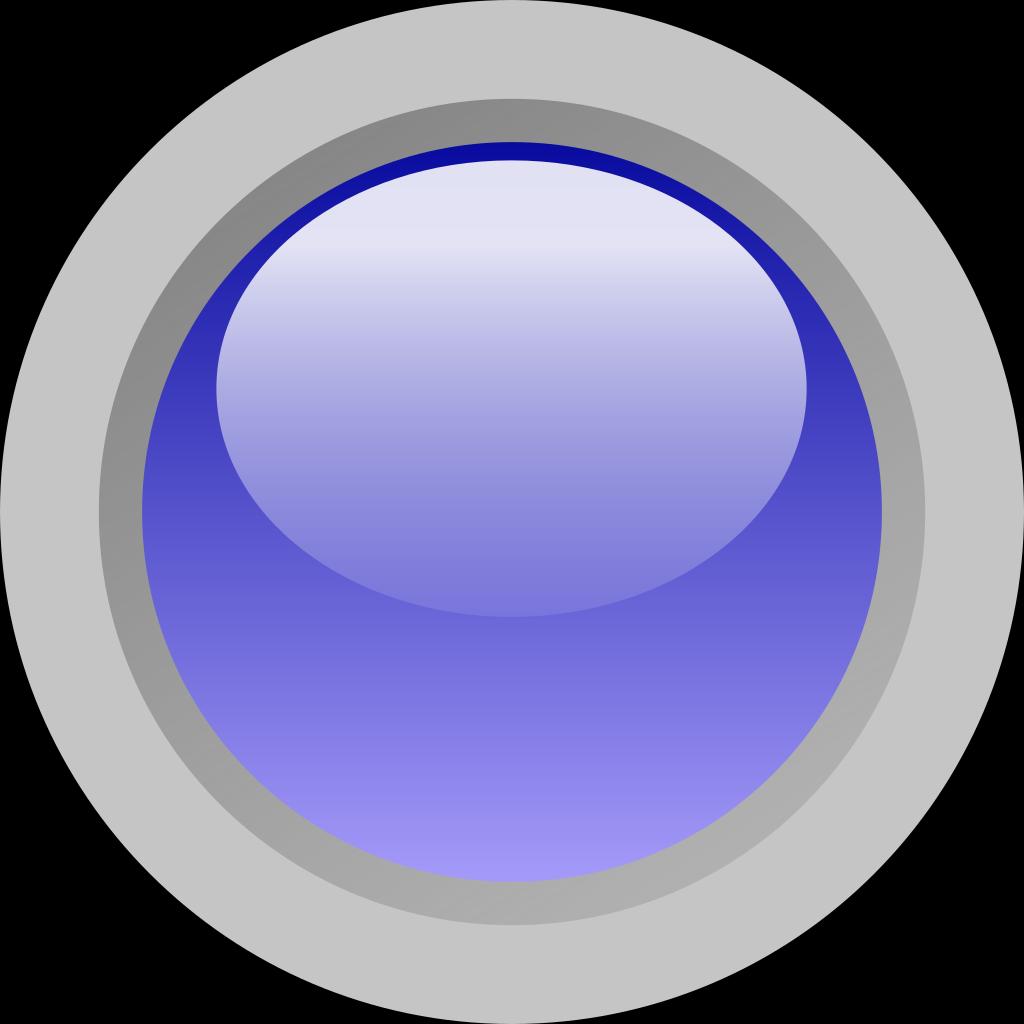 Led Circle (blue) SVG Clip arts