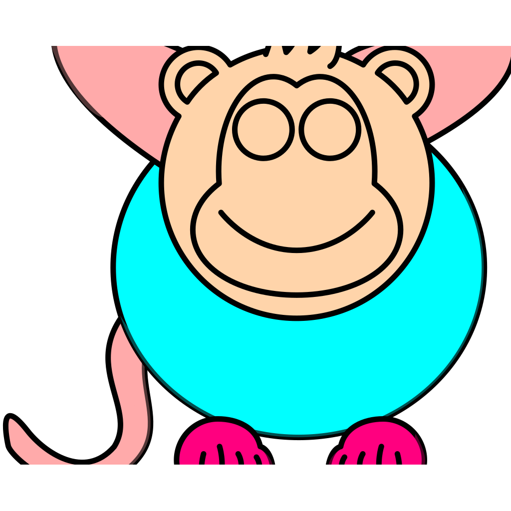 Monkey Sihouette SVG Clip arts