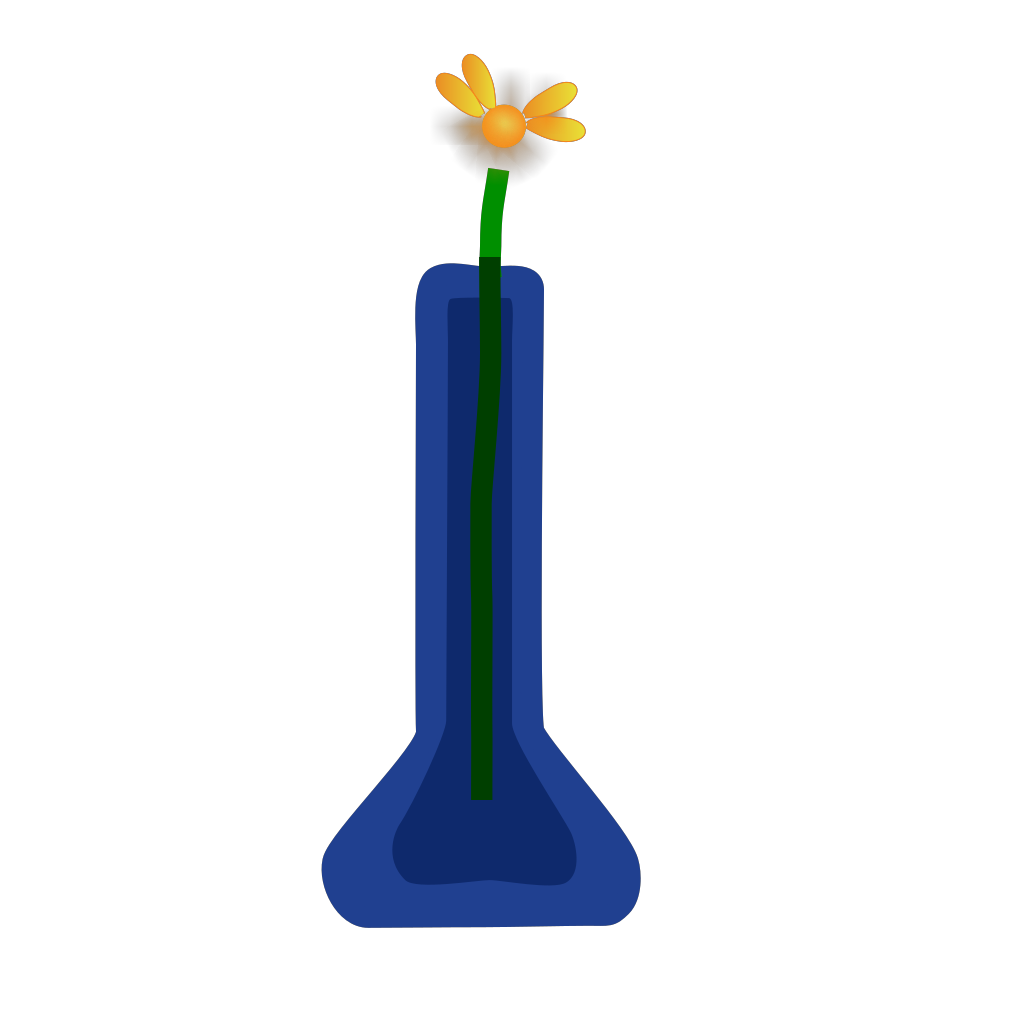 Violetsprite Flower In Vase SVG Clip arts