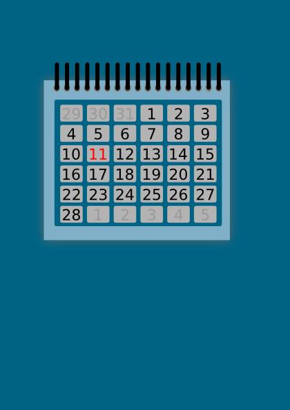 Calendar SVG Clip arts