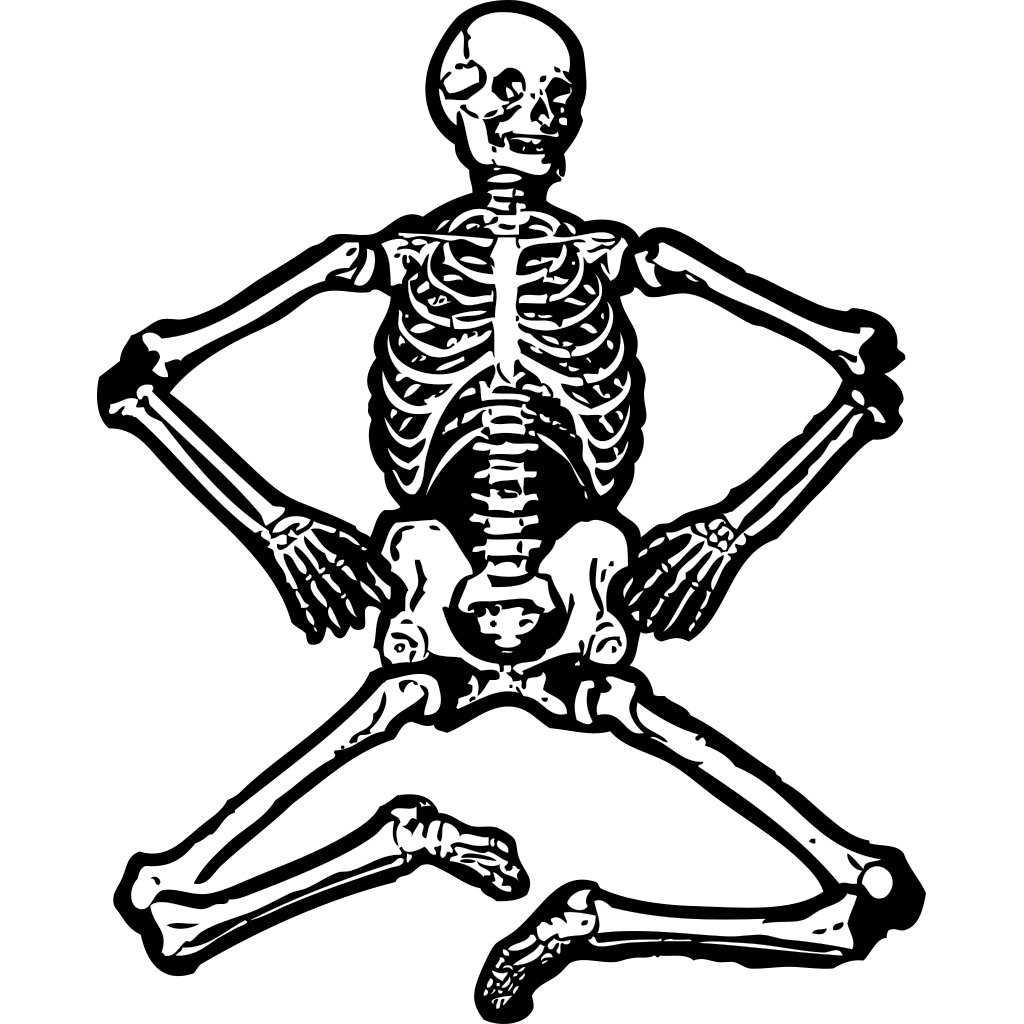 Human Skeleton SVG Clip arts