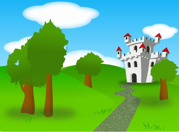 Cartoon Castle SVG Clip arts