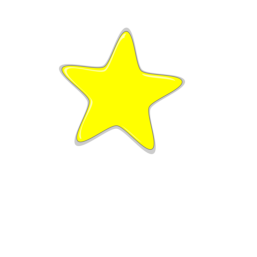 Yellow Star SVG Clip arts
