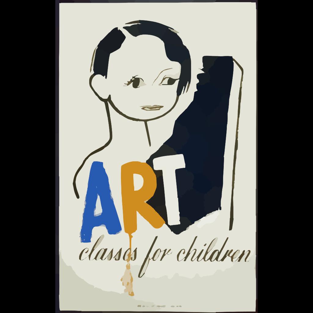 Art Classes For Children SVG Clip arts