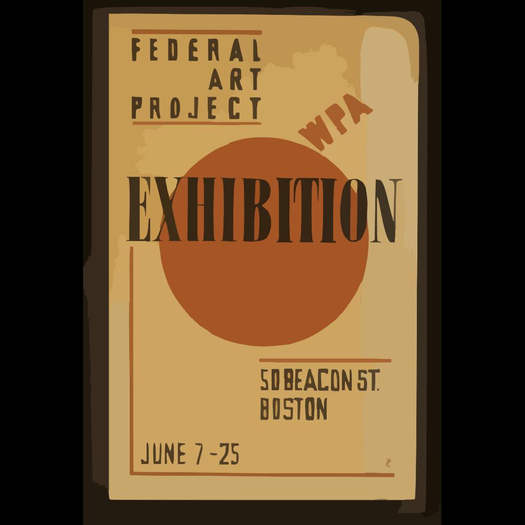 Exhibition - Wpa Federal Art Project  / Hg [monogram]. SVG Clip arts