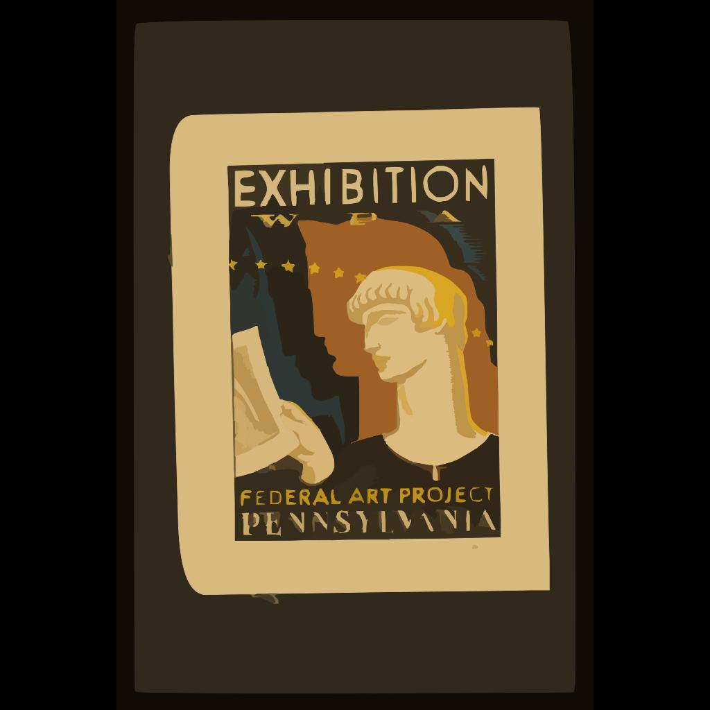 Exhibition Wpa Federal Art Project Pennsylvania / Milhous. SVG Clip arts