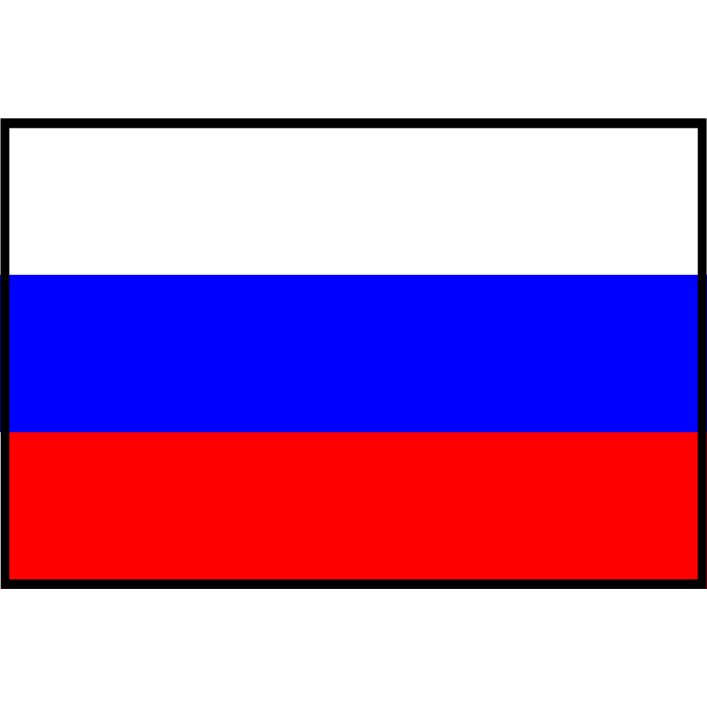 Flag Of Russia Bordered SVG Clip arts