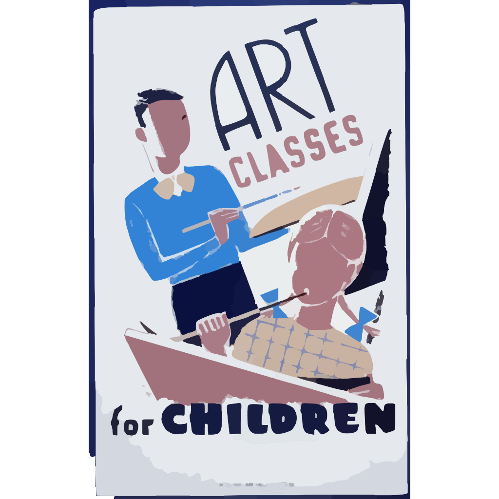 Art Classes For Children  / Bender. SVG Clip arts