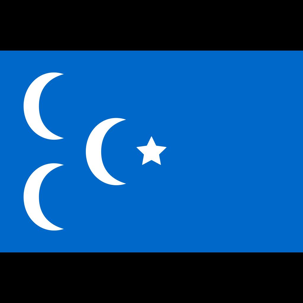 A Star And 3 Cresent Flag SVG Clip arts